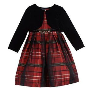Pippa & Julie Abby Red Plaid Jacket Dress Red 12M
